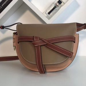 Replica Loewe Gate Small Bags Original Leather Mocca/Powder