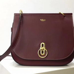 Replica Mulberry Amberley Satchel Bags Red Classic Grain Leather