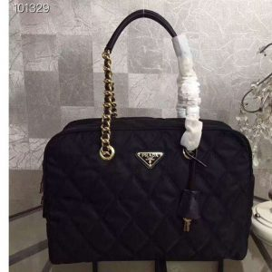 Replica Prada 1BG774 Nylon Bags Black