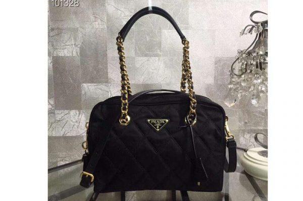 Replica Prada 1BG903 Nylon Bags Black