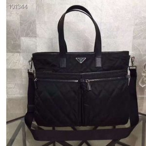 Replica Prada 2VG018 Quilted fabric Bags Black