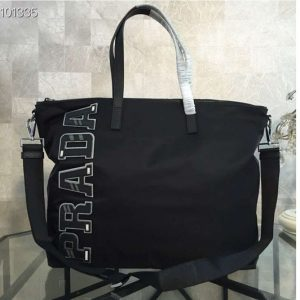 Replica Prada 2VG024 Nylon Tote Bags Black