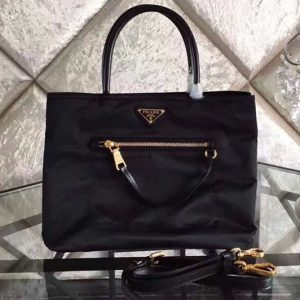 Replica Prada BN1825 Nylon Tote Bags Black