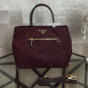 Replica Prada BN1825 Nylon Tote Bags Red