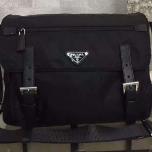 Replica Prada BT6671 Nylon Messenger Bags Black