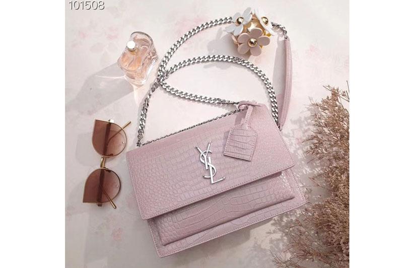 Ysl 442906 Saint Laurent Medium Sunset Monogram Bag Pink