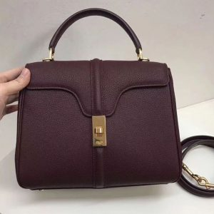 Replica Celine Medium/Small 16 Bag in Grained calfskin Leather Bordeaux