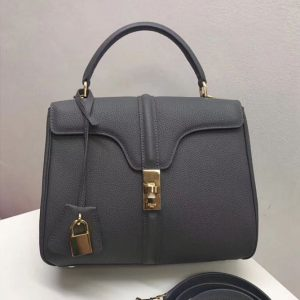Replica Celine Medium/Small 16 Bag in Grained calfskin Leather Grey