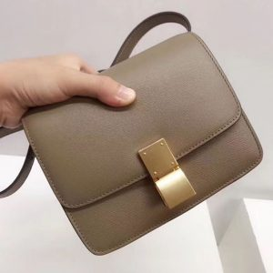 Replica Celine Small Classic Box Bag Original Calfskin Leather Apricot