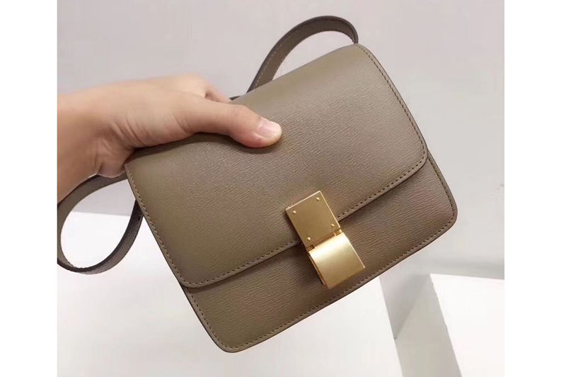 latest releases how to find 2019 best Celine Small Classic Box Bag Original Calfskin Leather Apricot