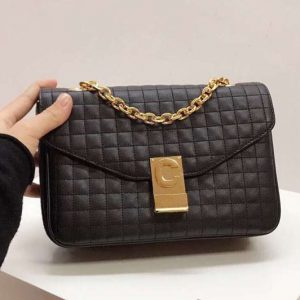 Replica Celine Quilted Calfskin Medium C Bag 187253 Black
