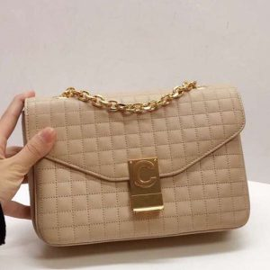 Replica Celine Quilted Calfskin Medium C Bag 187253 Beige