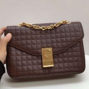 Replica Celine Quilted Calfskin Medium C Bag 187253 Coffee