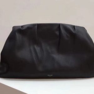 Replica Celine Clasp Clutch Bags Original Calfskin Leather Black