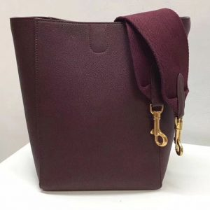 Replica Celine Sangle Small Bucket Bags Soft Grained Calfskin Leather Burgundy