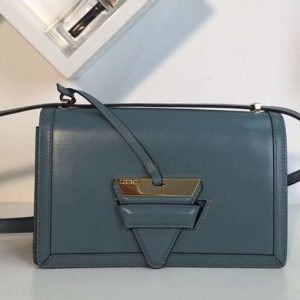 Replica Loewe Barcelona Bag Boxcalf Leather Light Blue