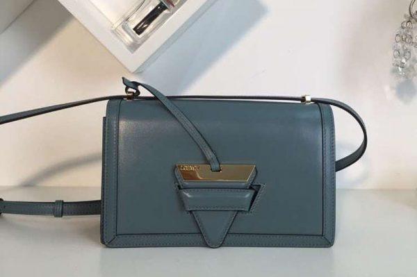 Replica Loewe Barcelona Bag Boxcalf Leather Light Blue