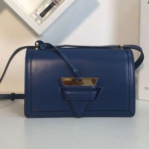 Replica Loewe Barcelona Bag Boxcalf Leather Blue