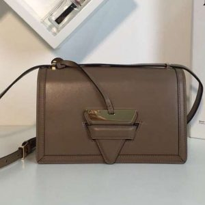 Replica Loewe Barcelona Bag Boxcalf Leather Khaki