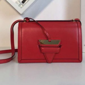 Replica Loewe Barcelona Bag Boxcalf Leather Red