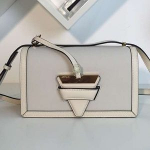 Replica Loewe Barcelona Bag Boxcalf Leather White