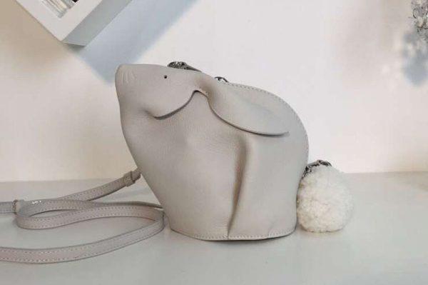 Replica Loewe Bunny Mini Bag Soft Grained Calf White