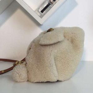 Replica Loewe Bunny Mini Bag Shearling White