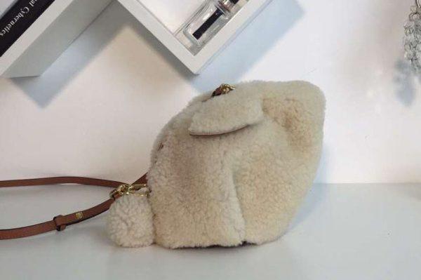 Replica Loewe Bunny Mini Bag Shearling White