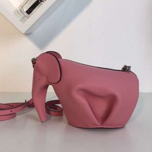 Replica Loewe Elephant Mini Bag Classic Calf Leather Pink