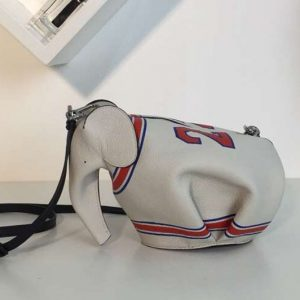 Replica Loewe Elephant Mini Bag Classic Calf Leather White