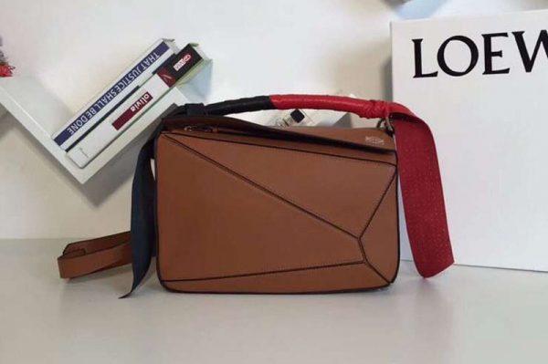 Replica Loewe Puzzle Bags Original Calf Leather Brown