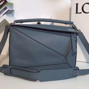 Replica Loewe Puzzle Bags Original Calf Leather Blue