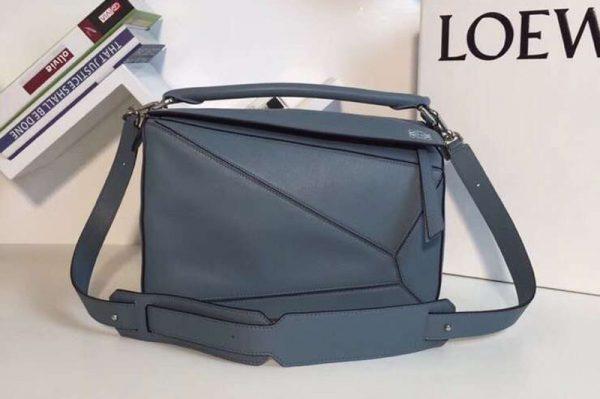 Replica Loewe Puzzle Bags Original Calf Leather Blue