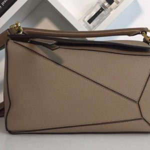 Replica Loewe Puzzle Bags Original Calf Leather Khaki