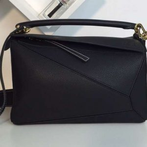 Replica Loewe Puzzle Bags Original Calf Leather Black