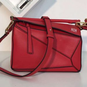 Replica Loewe Puzzle Small Bags Original Calf Leather Red