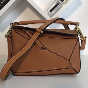 Replica Loewe Puzzle Small Bags Original Calf Leather Brown