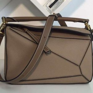 Replica Loewe Puzzle Small Bags Original Calf Leather Khaki