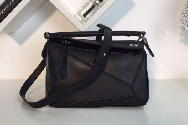 Replica Loewe Puzzle Small Bags Original Calf Leather Black