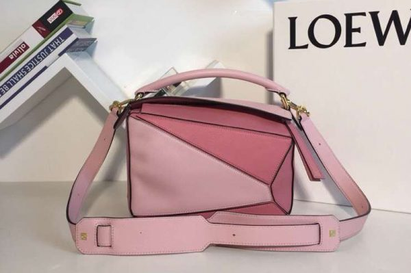 Replica Loewe Puzzle Small Bags Original Calf Leather Light Pink/Pink