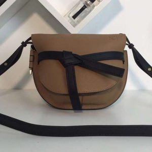 Replica Loewe Gate Small Bags Original Soft Calf Leather Tan