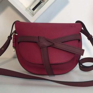 Replica Loewe Gate Small Bags Original Soft Calf Leather Fuchsia