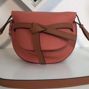 Replica Loewe Gate Small Bags Original Soft Calf Leather Pink
