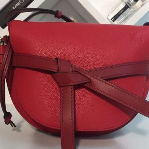 Replica Loewe Gate Small Bags Original Soft Calf Leather Red