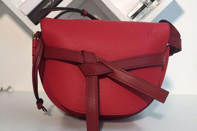 Loewe Gate Small Bags Original Soft Calf Leather Red