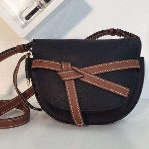 Replica Loewe Gate Small Bags Original Soft Calf Leather Black