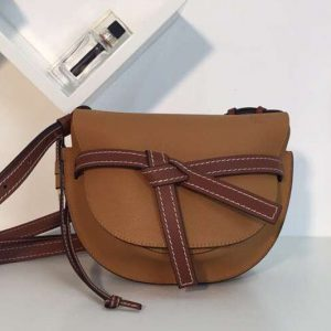 Replica Loewe Gate Small Bags Original Soft Calf Leather Brown