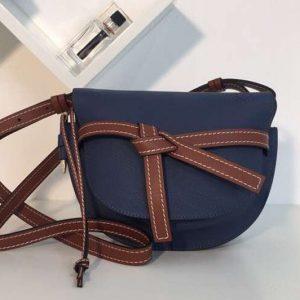 Replica Loewe Gate Small Bags Original Soft Calf Leather Blue