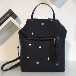 Replica Loewe Goya Small Backpack Soft Natural Calf Black With Star