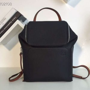 Replica Loewe Goya Small Backpack Soft Natural Calf Black